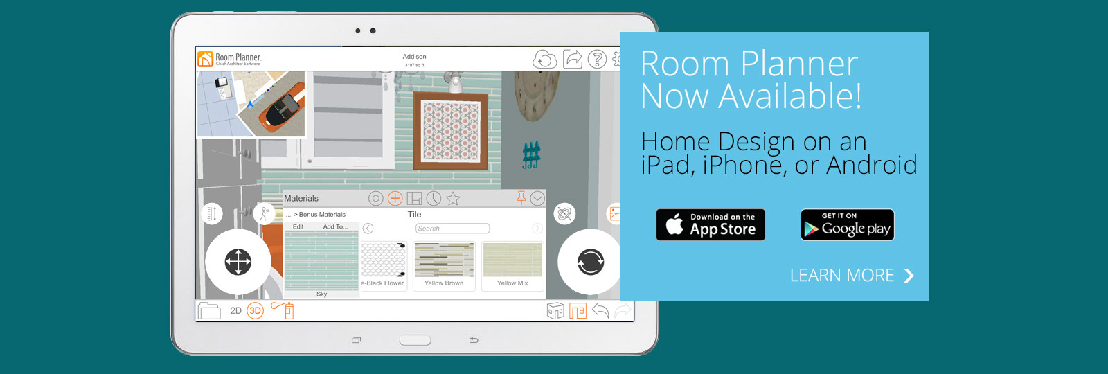 Room planner home design software app by chief architect for 3d room planner ipad
